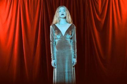 los angeles fashion photographer Nicole Caldwell Photography studio film, girl in verlevt dress auandcompany