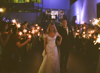 seven degrees wedding photographer nicole caldwell who uses film cinestill sparkler send off