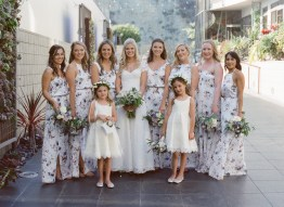 seven degrees wedding photographer nicole caldwell who uses film cinestill bridesmaids