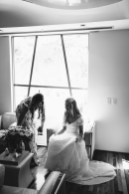 bride in bridal suite laguna beach wedding venue seven degrees photographer nicole caldwell