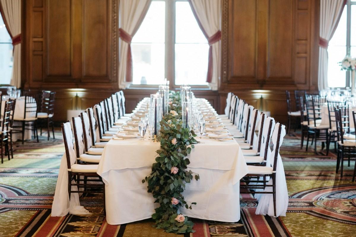 jonathan club downtown la weddings bride and groom nicole caldwell recption room