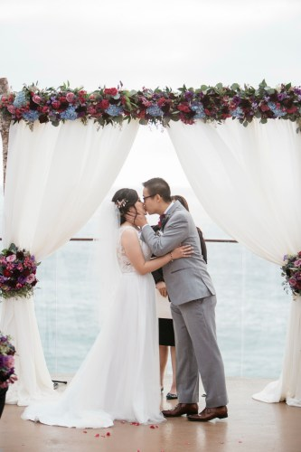 surf and sand resort wedding photographer nicole caldwell kiss