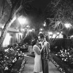 surf and sand resort wedding photographer nicole caldwell bride and groom at night