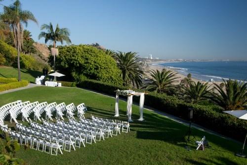 wedding ceremony view bel air bay club wedding palos verdes