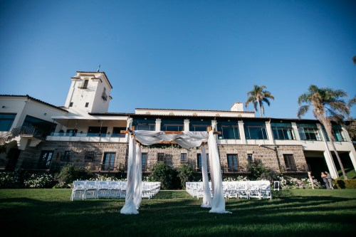 wedding ceremony set up bel air bay club wedding palos verdes