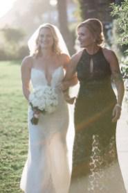 wedding ceremony mom walking bride down aisle bel air bay club wedding palos verdes