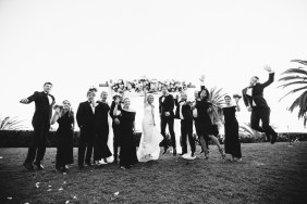 bridal party bel air bay club wedding palos verdes