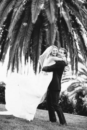 bride and groom bel air bay club wedding palos verdes