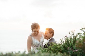 casa romantica san clemente wedding photographer artistic bride and groom at sunset