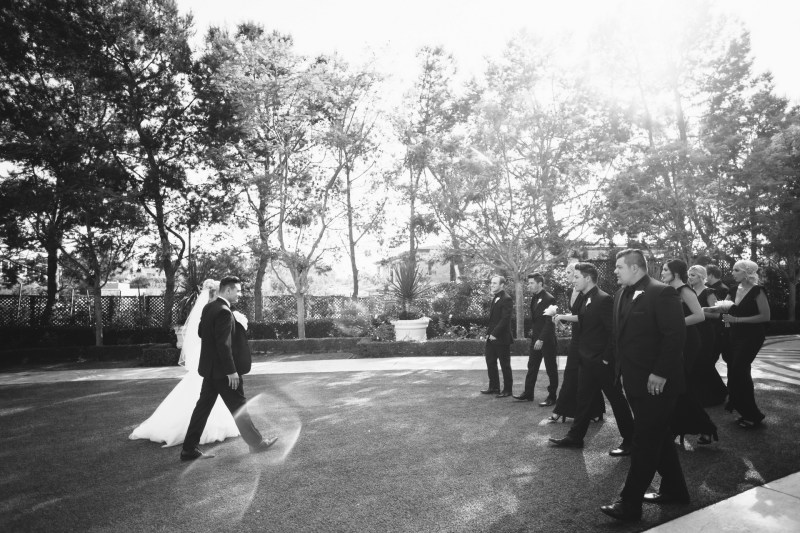 bridal party Monarch beach resort wedding photographer nicole caldwell