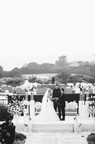 ceremony Monarch beach resort wedding photographer nicole caldwell