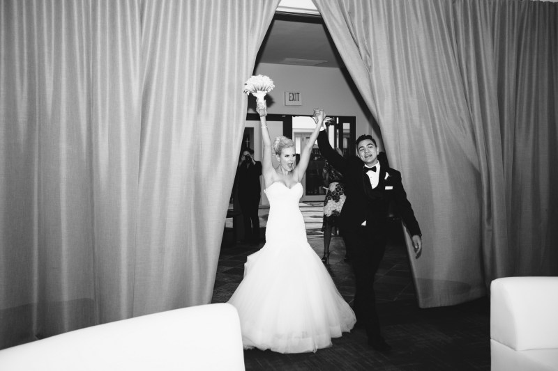 grand entrance Monarch beach resort wedding photographer nicole caldwell