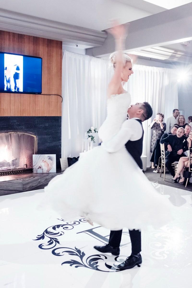 first dance wedding reception Monarch beach resort wedding photographer nicole caldwell