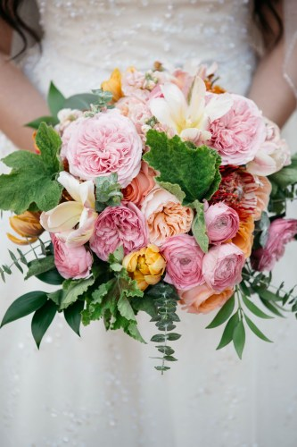 bridal bouquet surf and sand resort wedding photographer nicole caldwell