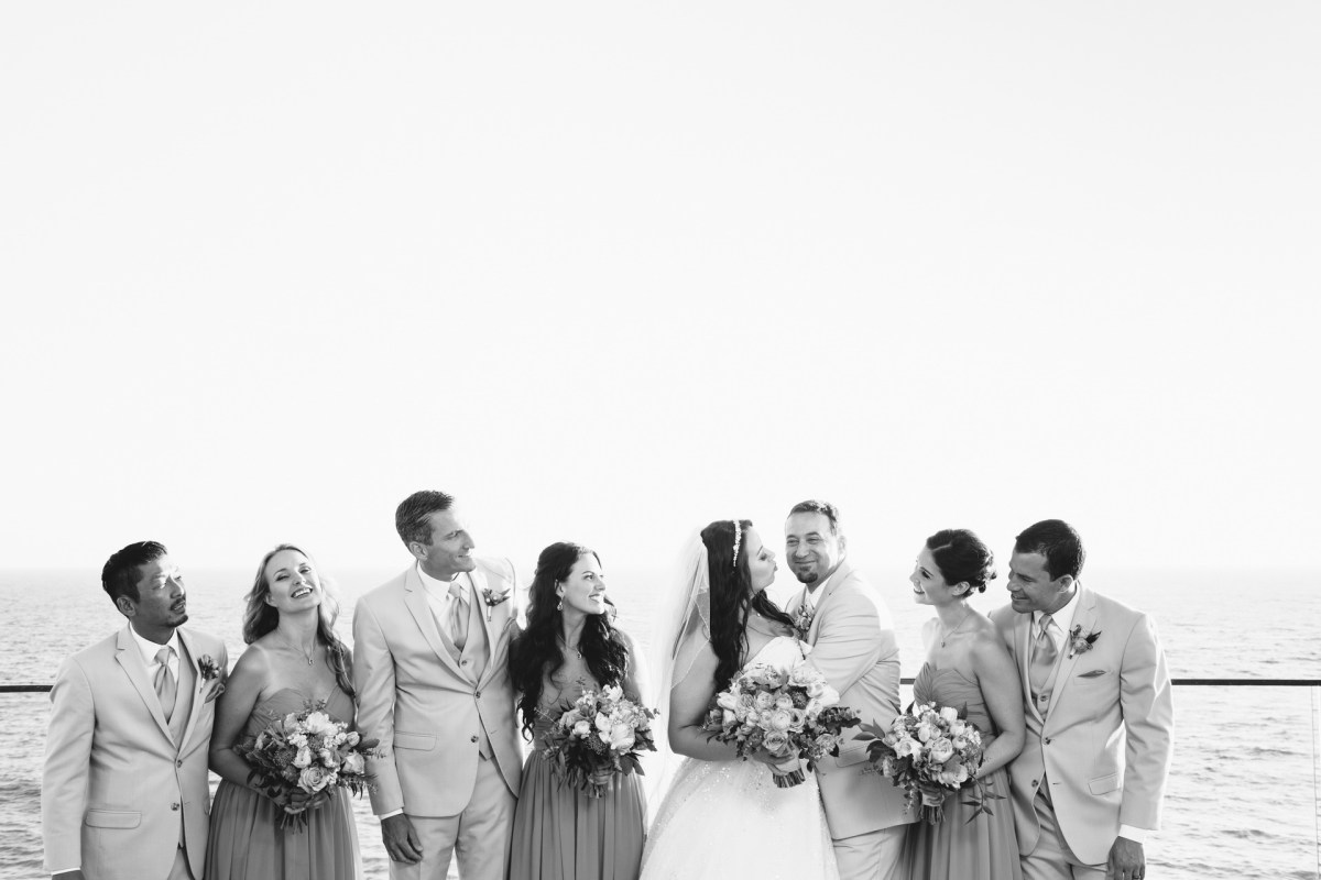 bridal party surf and sand resort wedding photographer nicole caldwell