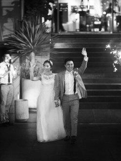 bride and groom exit sparkler ideas seven degrees weddings laguna beach nicole caldwell
