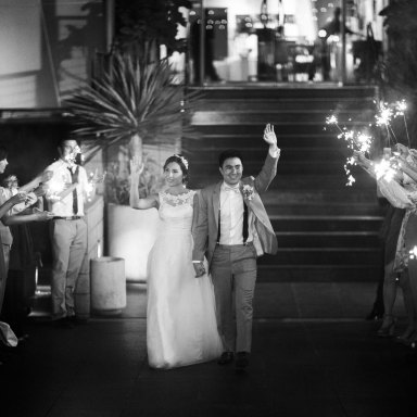 bride and groom exit sparkler ideas seven degrees weddings laguna beach nicole caldwell