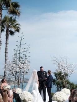 ceremony bride and groom wedding montage laguna beach
