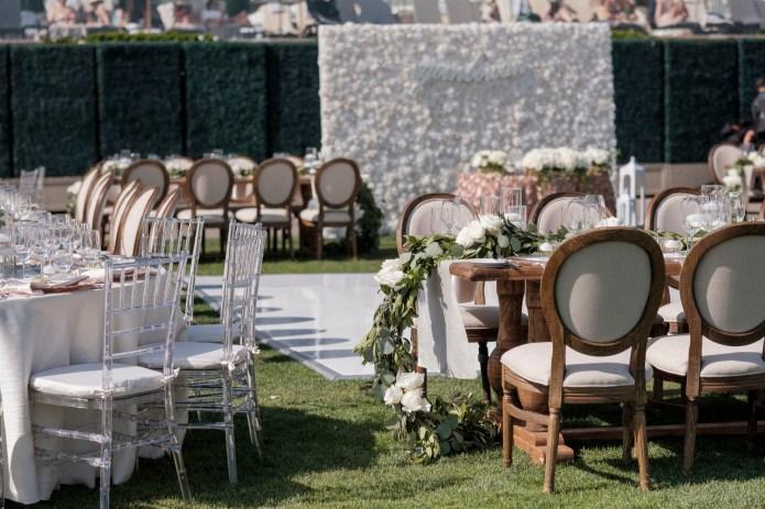 lawn reception bride and groom wedding montage laguna beach