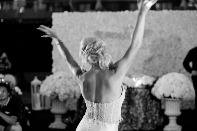 bride on dance floor wedding montage laguna