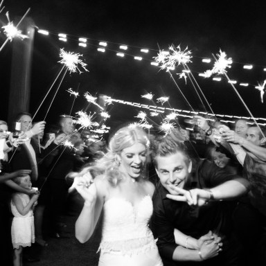 sparkler farewell sendoff bride and groom wedding montage laguna beach