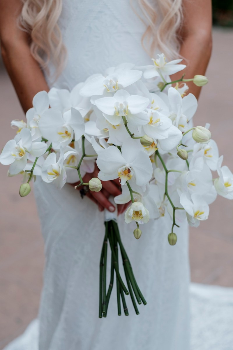 bridal bouquet wedding ceremony ocean terrace wedding photos surf and sand resort laguna beach
