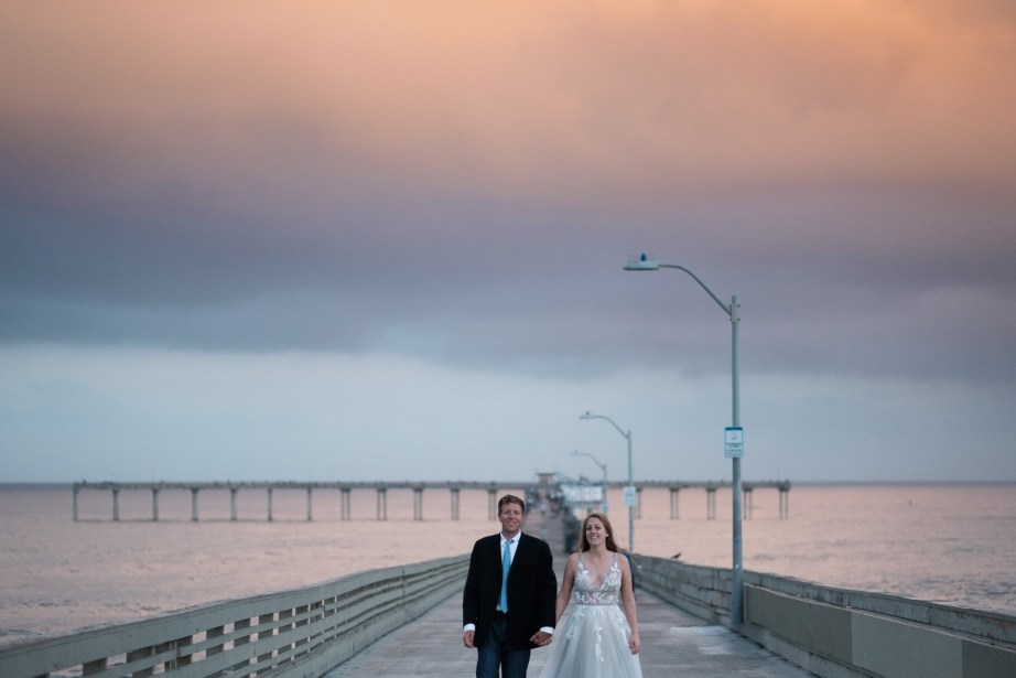 san diego wedding photographer nicole caldwell trash the dress ocean beach pier 02