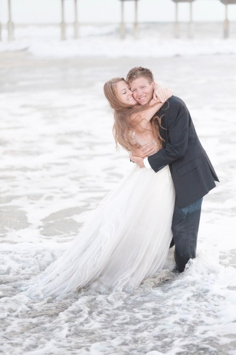 san diego wedding photographer nicole caldwell trash the dress ocean beach pier 16