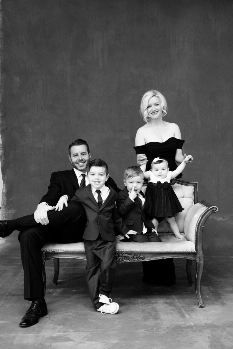 classic black and white family studio photographs nicole caldwell 08