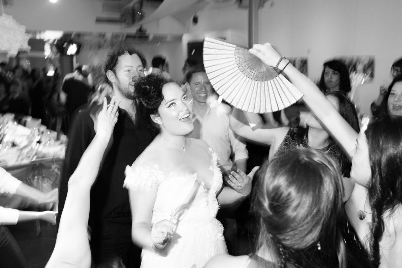 bride on dance floor seven degrees wedding photographer laguna beach