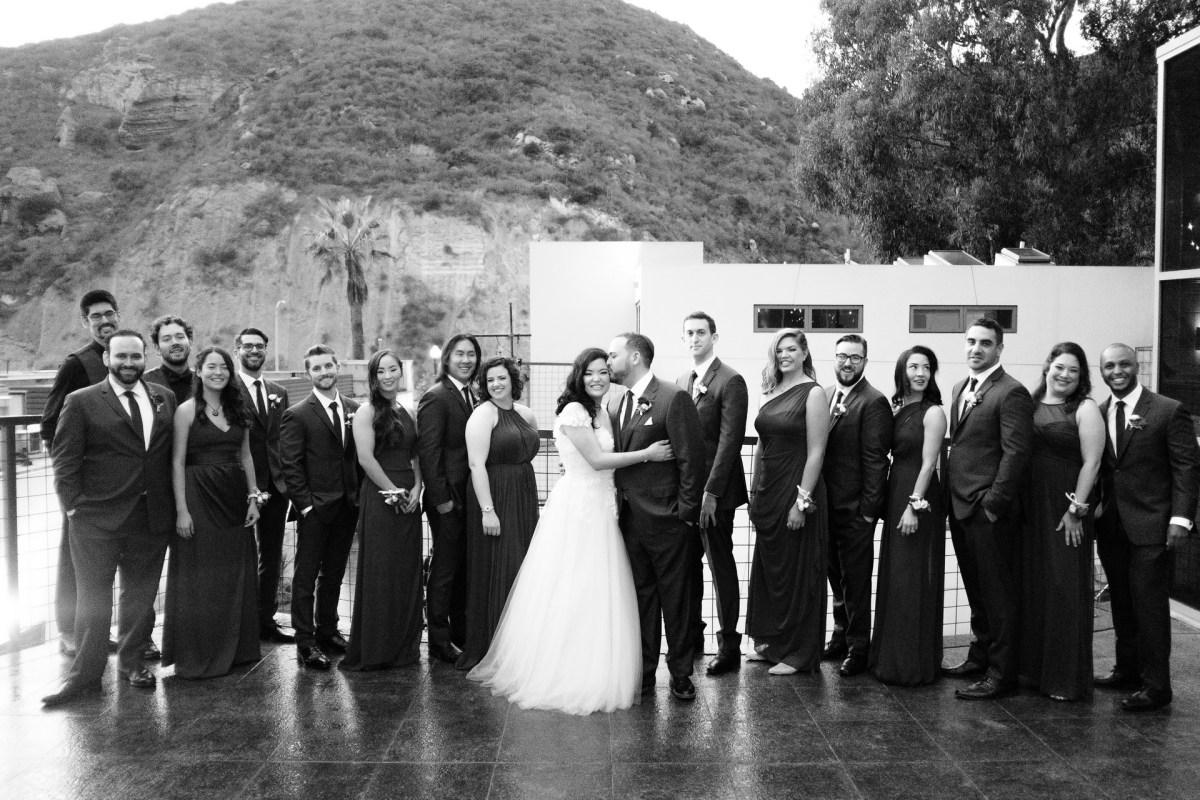bridal party seven degrees wedding photographer laguna beach