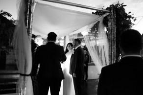bride and groom night ceremony seven degrees wedding photographer laguna beach