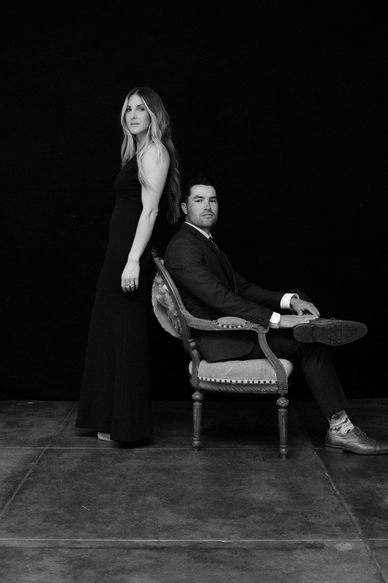 classic engagement pictue in photography studio orange county nicole caldwell 01