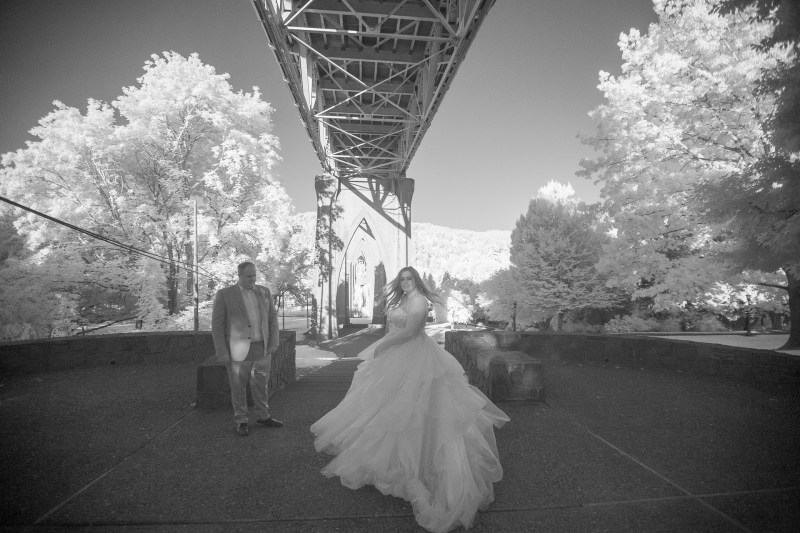 infrared weding photography nicole calwell 02 portalnd oregon st johns bridge