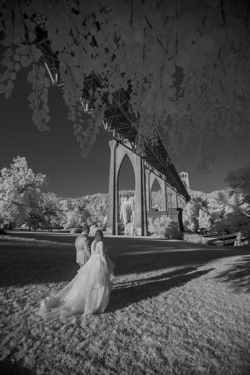 infrared weding photography nicole calwell 07 portalnd oregon st johns bridge