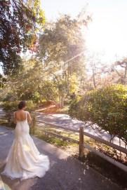 temecula wedding photographer creek inn bride walking
