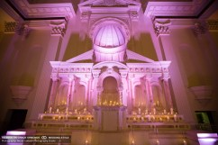 candles altar wedding ceremony vibiana