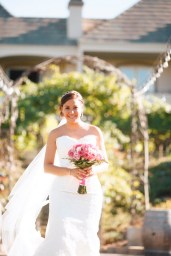artistic temecula wedding photographer churon winery bride walking down aisle