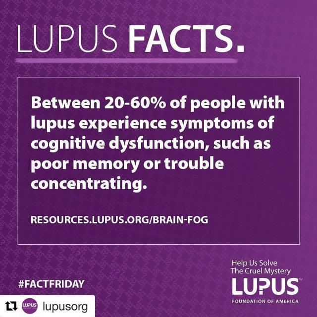 Fact Friday  Lupus can cause cognitive dysfunction AKA brainhellip