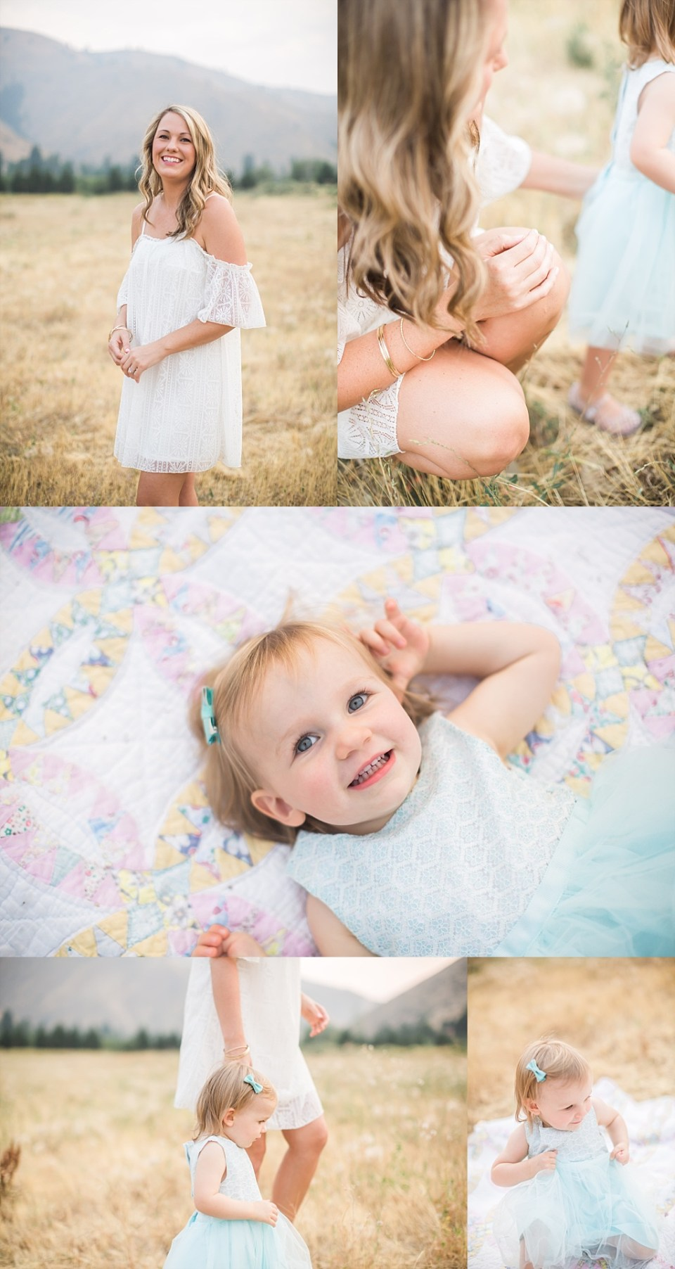 vintage quilt for family photos