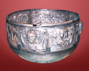 Tthe Gundestrup Cauldron, a Celtic style cauldron on display at the National Museum  in Denmark. Photo used with permission from Malene Thyssen, http://commons.wikimedia.org/wiki/User:Malene