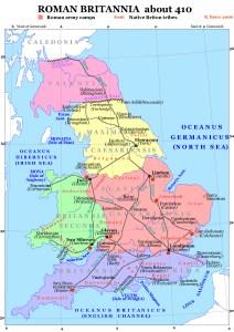 Roman Britain in 410 A.D.