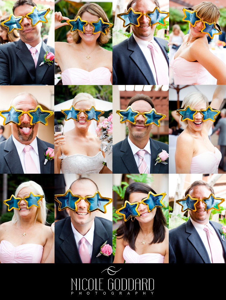 I couldn't resist. Nearly their entire wedding party! Love props.