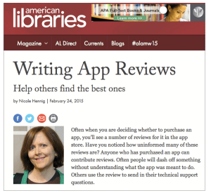 Writing App Reviews - American Libraries