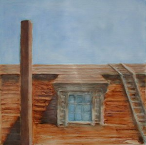 Red Barn Rooftop I, 2001