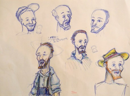 """Concept Sketches """"the Farmer"""" (based on Van Gogh)"""