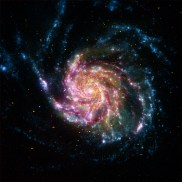 A spiral galaxy located about 21 million light years from Earth.
