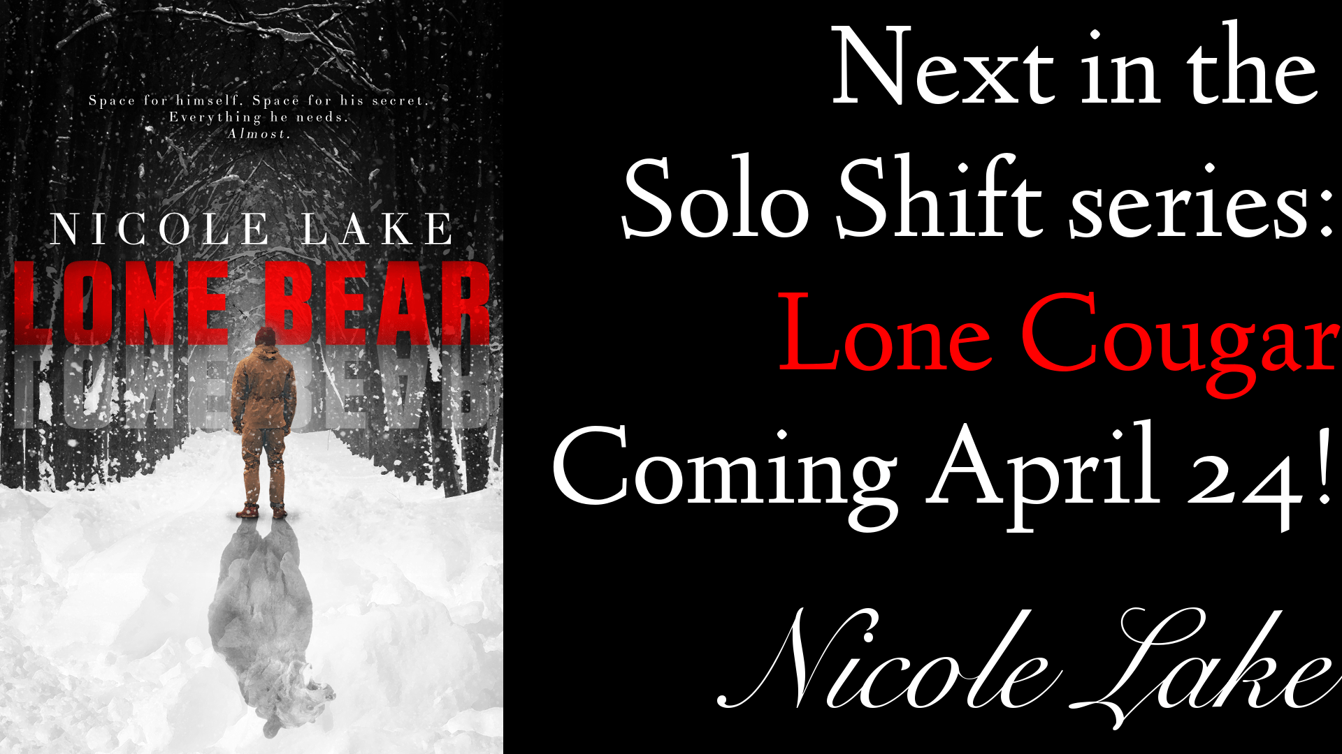 Next in the Solo Shift series: Lone Cougar, coming April 24!