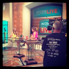 "My girl Kat on ""Access Hollywood Live"""