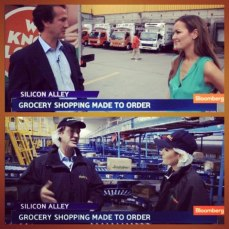 "Touring Fresh Direct for ""Bloomberg West"""